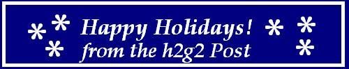 The h2g2 Post 2011 Christmas banner.