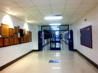 Photograph of High School Corridor.