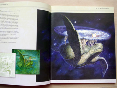 A picture of great A'Tuin in 'The Art of Discworld'