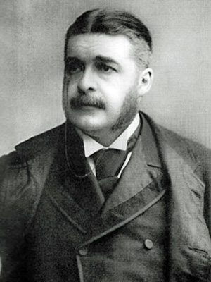 A photograph of Sir Arthur Sullivan. Image in the Public Domain