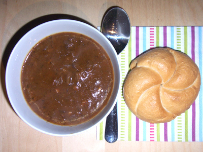 Austrian Beef Goulash with a Bread Roll