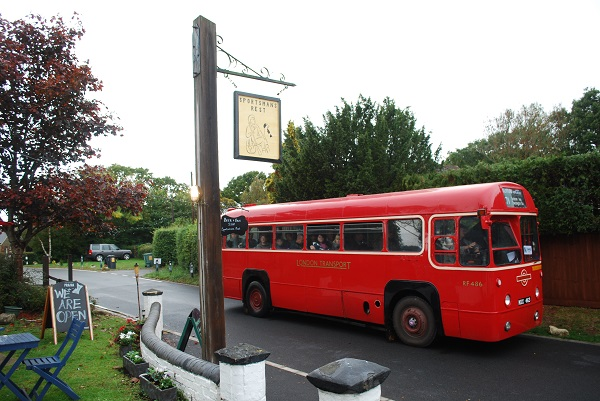 A Bus by the Sportsman's Rest, Porchfield