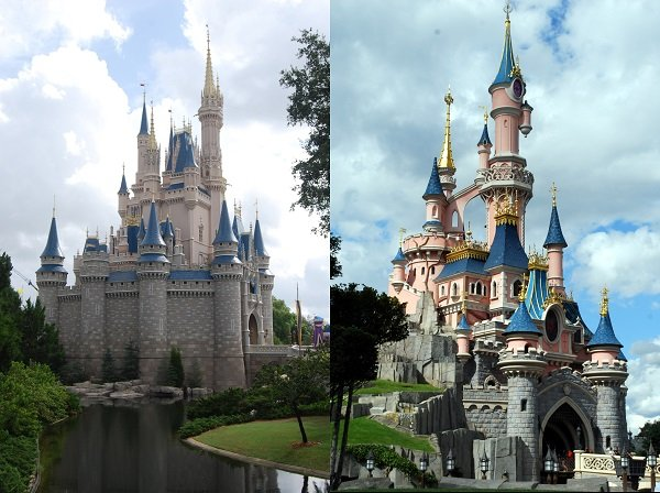 Disney Castles by Bluebottle