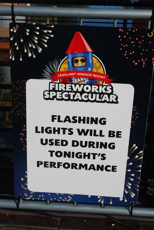 Flashing light warning for Guy Fawkes