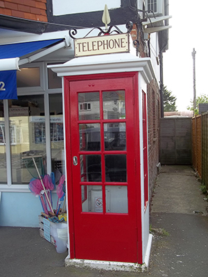 The historic Bembridge phonebox