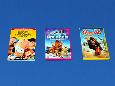 DVDs in a blue sky