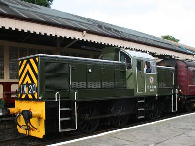 British Rail Class 14 Diesel Shunter D9531 'Ernest'