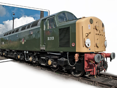 A Deltic Diesel Locomotive