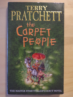 A copy of Terry Pratchett's 'The Carpet People'