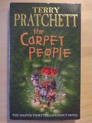 A copy of Terry Pratchett's 'The Carpet People'