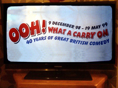 'Oooh! What a Carry On' on a Television Screen