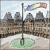 An illustration of Charleville Mezieres in France.