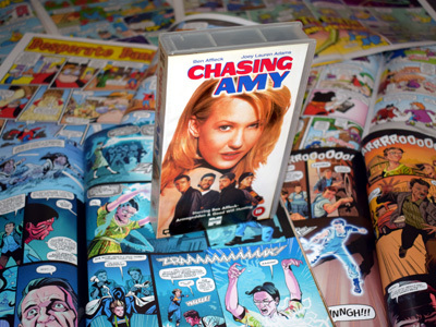 Chasing Amy DVD with Comic Books