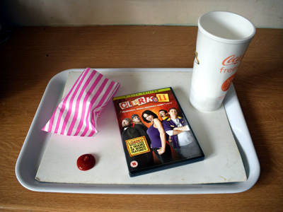 Clerks II DVD on a fast food tray