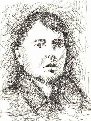 Illustration of Count Sandor Vay by Community Artist Rosie.