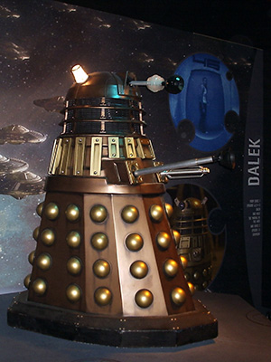 A bronze Dalek as seen in Doctor Who since 2005