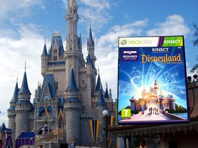 Disneyland Adventures Game in front of Disneyland's Castle