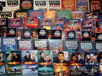 A selection of different Doctor Who books