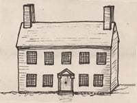 Drawing of an early Georgian style house.