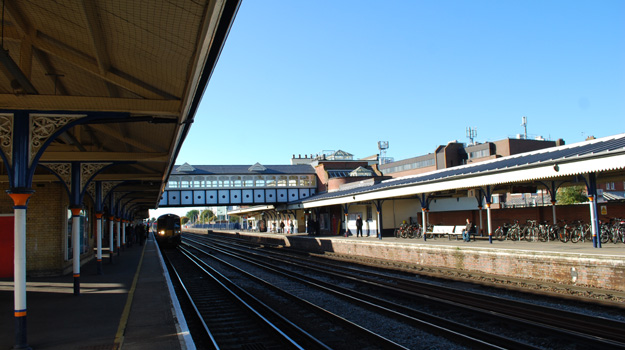 A photograph of Eastleigh Station, Hampshire.