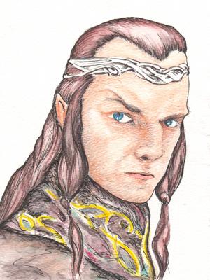 Artist's impression of Elrond the Half-Elven.