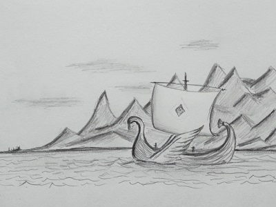 An Elven ship sailing west