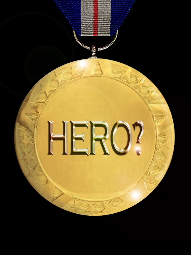 A hero medal with a question mark, by FWR.