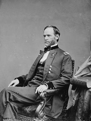 An original photographic portrait of General William Sherman
