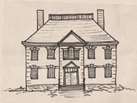 Drawing of a later Georgian style house.
