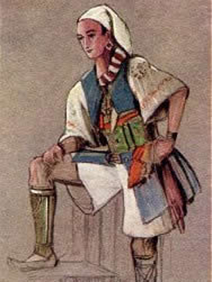 A poster of Guiseppe's costume from 'The Gondoliers'.  Image in the Public Domain