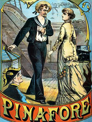 A poster of HMS Pinafore. Image in the Public Domain