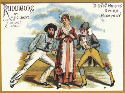 A Ruddigore poster. Image in the Public Domain