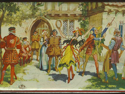 A poster of 'The Yeoman of the Guard'.  Image in the Public Domain
