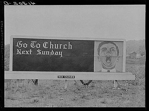 A church sign near Punxsutawney.