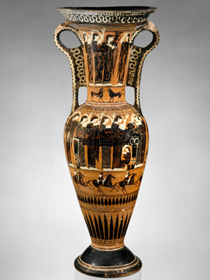 Greek black figure vase