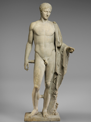 Greek statue of Hermes