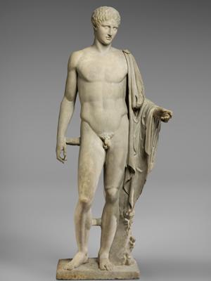 Greek statue of Hermes