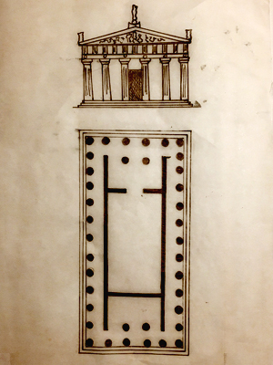 Plan of a Greek Temple
