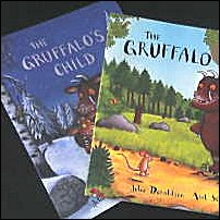 Two of the Gruffalo books.