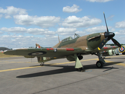 A Hawker Hurricane.