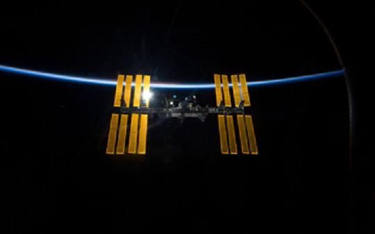 The ISS.