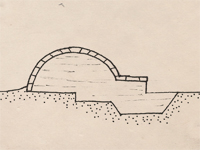 Section drawing of an igloo.