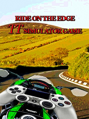 Motorbike with games console controller on the Isle of Man