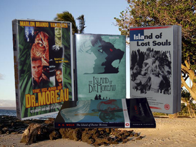 The film adaptations and original novel of The Island of Doctor Moreau