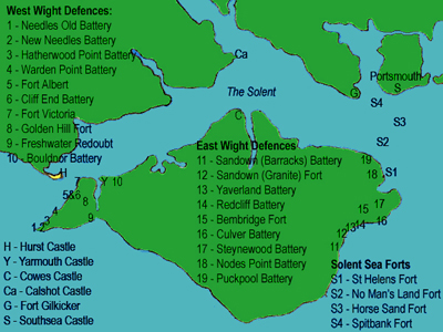 Isle of Wight fortifications