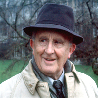 The impossibly clever and rather brilliant JRR Tolkien looking askance.