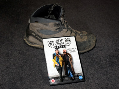 Jay and Silent Bob Reboot DVD with a Boot