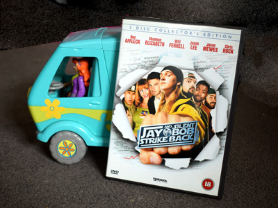 Jay and Silent Bob Strike Back DVD with Scooby Doo's Mystery Machine