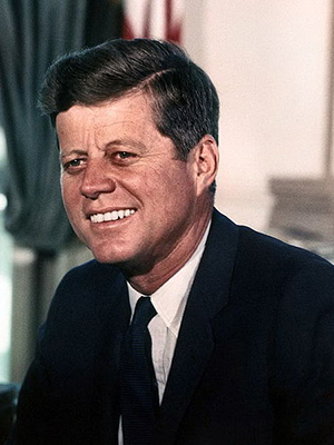 John F Kennedy. Picture courtesy National Archives and Records.
