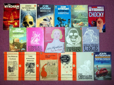A selection of John Wyndham novels.
